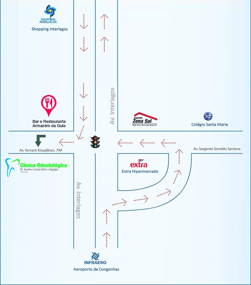 Mapa de Localização da Clínica Odontológica Zona Sul, Mapa de Localização da Clínica Odontológica na Zona Sul, Mapa de Localização da Clínica Odontológica Zona Sul SP, Mapa de Localização da Clínica Odontológica na Zona Sul SP,